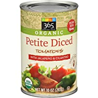 365 Everyday Value, Organic Petite Diced Tomatoes with Jalapeno & Cilantro, 10 oz
