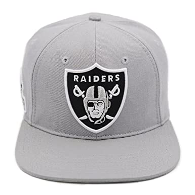 379b79bf4dd Image Unavailable. Image not available for. Colour  Pro Standard Men s NFL  Oakland Raiders Logo Buckle Back Hat W Pins Gray