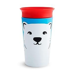Munchkin Miracle 360 WildLove Sippy Cup, 9 Oz, Polar Bear