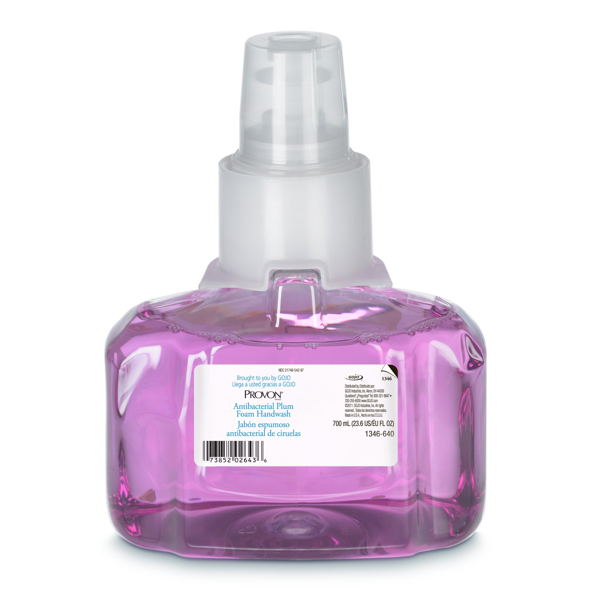 PROVON LTX-7 Antibacterial Plum Foam Handwash, Plum Fragrance, 700 mL Handwash Refill for PROVON LTX-7 Touch-Free Dispenser (Pack of 3) - 1346-03