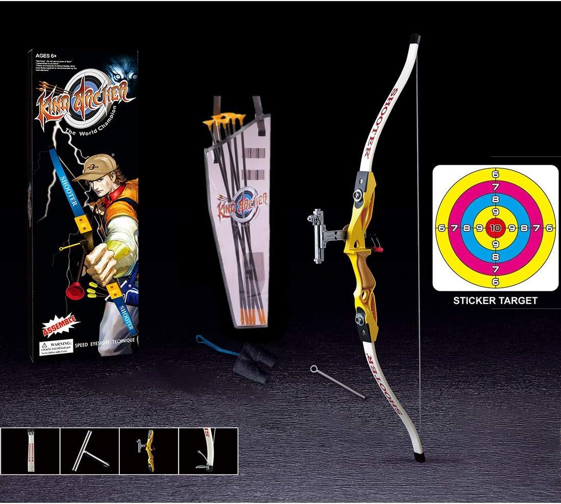 Tiro con Arco Kit con 1 Arco Mecotecn 10Pcs Arco y Flechas Ni/ños 1 carcaj 6 Flechas y 1 Objetivo Regalo Ideal para Ni/ños Mayores de 6 a/ños
