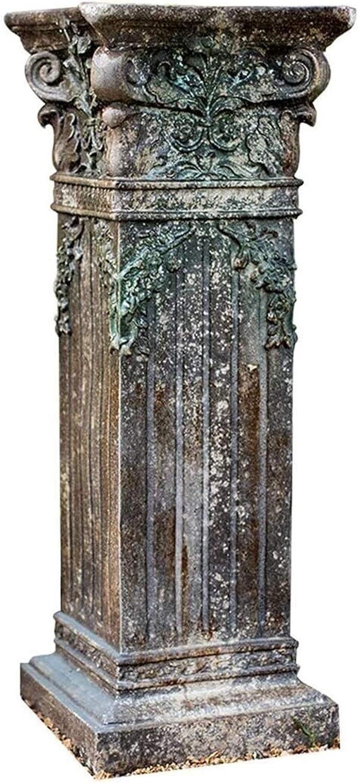 MAHONGQING Sculpture Roman Column Sculpture, Pedestal Plant Booth, Greek Column Statue Pillar Garden Decoration Crafts Model Artwork Statues