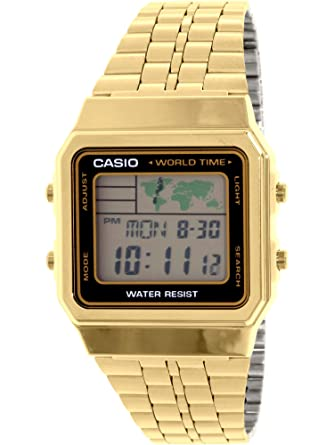 5413743a40e Amazon.com  CASIO Men s Digital World TIME A500WGA-1DF Stainless ...