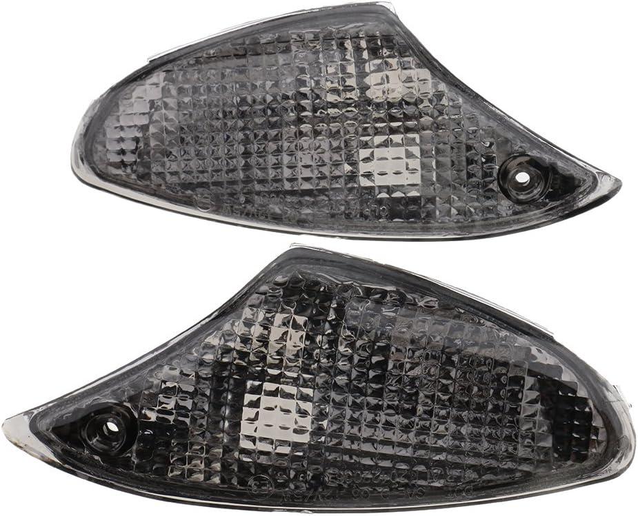 Almencla Couvre-lentilles De Clignotant pour BMW K1200S K1300S en Plastique Fum/é