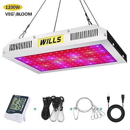 Amazon.com: WILLS Upgraded 1200W Led Grow Light, Full ...