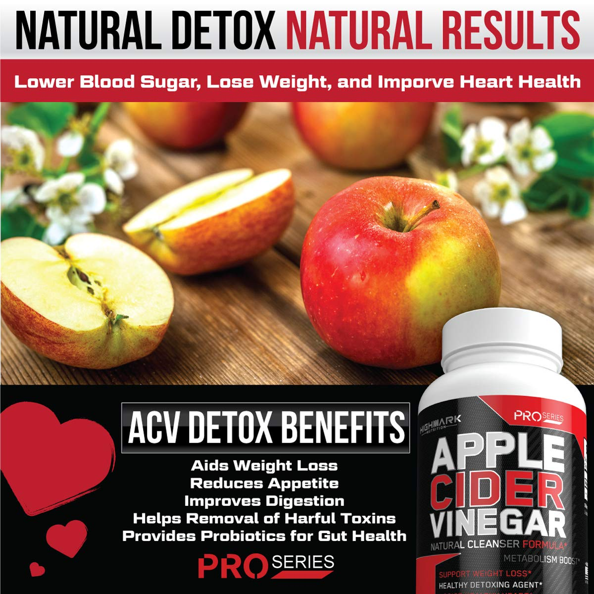 100% Organic Apple Cider Vinegar Capsules by HighMark Nutrition | Fast  Weight Loss Pills for Women & Men | Natural Weight Loss & Healthy Detox  Cleanse