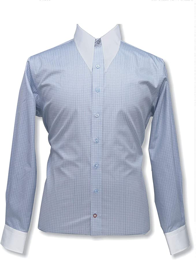 Long collar shirts White 100/% Cotton Spear point High Large collar Vintage Gents