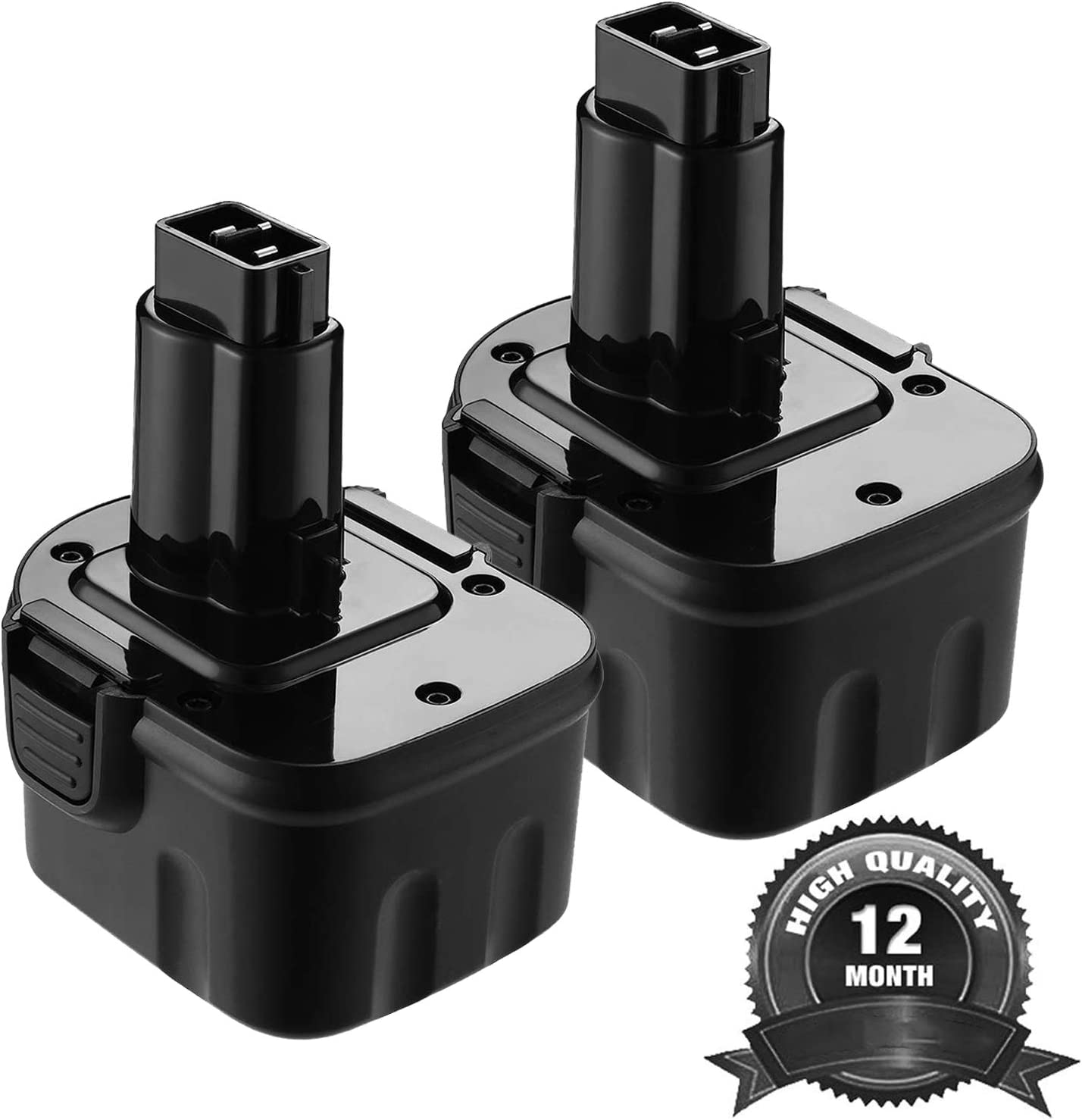2Pack 3600mAh 12V DW9071 for Dewalt Replacement Battery, Ni-HM Battery for Dewalt DW9072 DC9071 DE9037 DE9071 DE9072 DE9074 DE9075 152250-27 397745-01