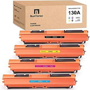 BUNTONER Compatible Toner Cartridges Replacement for HP 130A CF350A CF351A CF352A CF353A use with HP Color Laserjet Pro MFP M177fw M176n (Black, Cyan, Magenta, Yellow, 4-Pack)