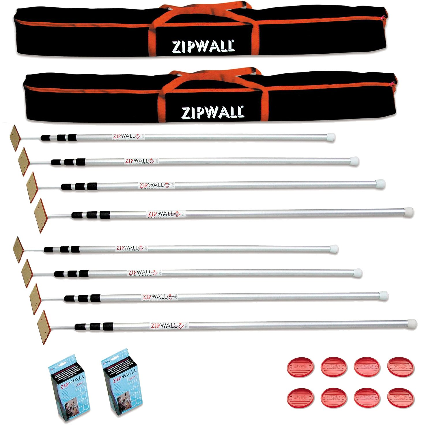 ZipWall SLP4 ZipPole 12-Foot Spring-Loaded Poles for Dust Barriers (8 Poles)