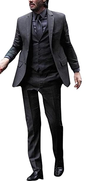 III-Fashions John Wick Keanu Reeves 3 Piece Skinny Fit Black ...