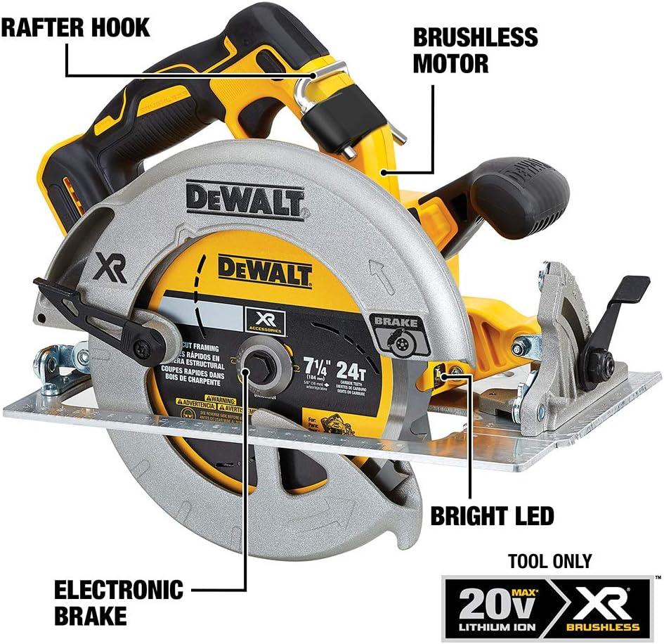 Dewalt 20v Max 7 1 4 Inch Circular Saw With Brake Tool Only Dcs570b Amazon Com