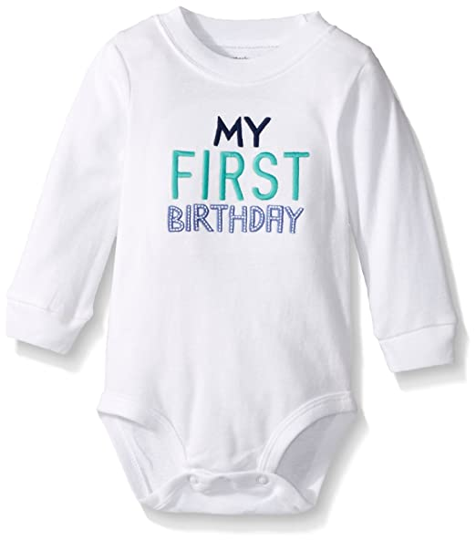 Amazon Carters Baby Boys My First Birthday Bodysuit Clothing