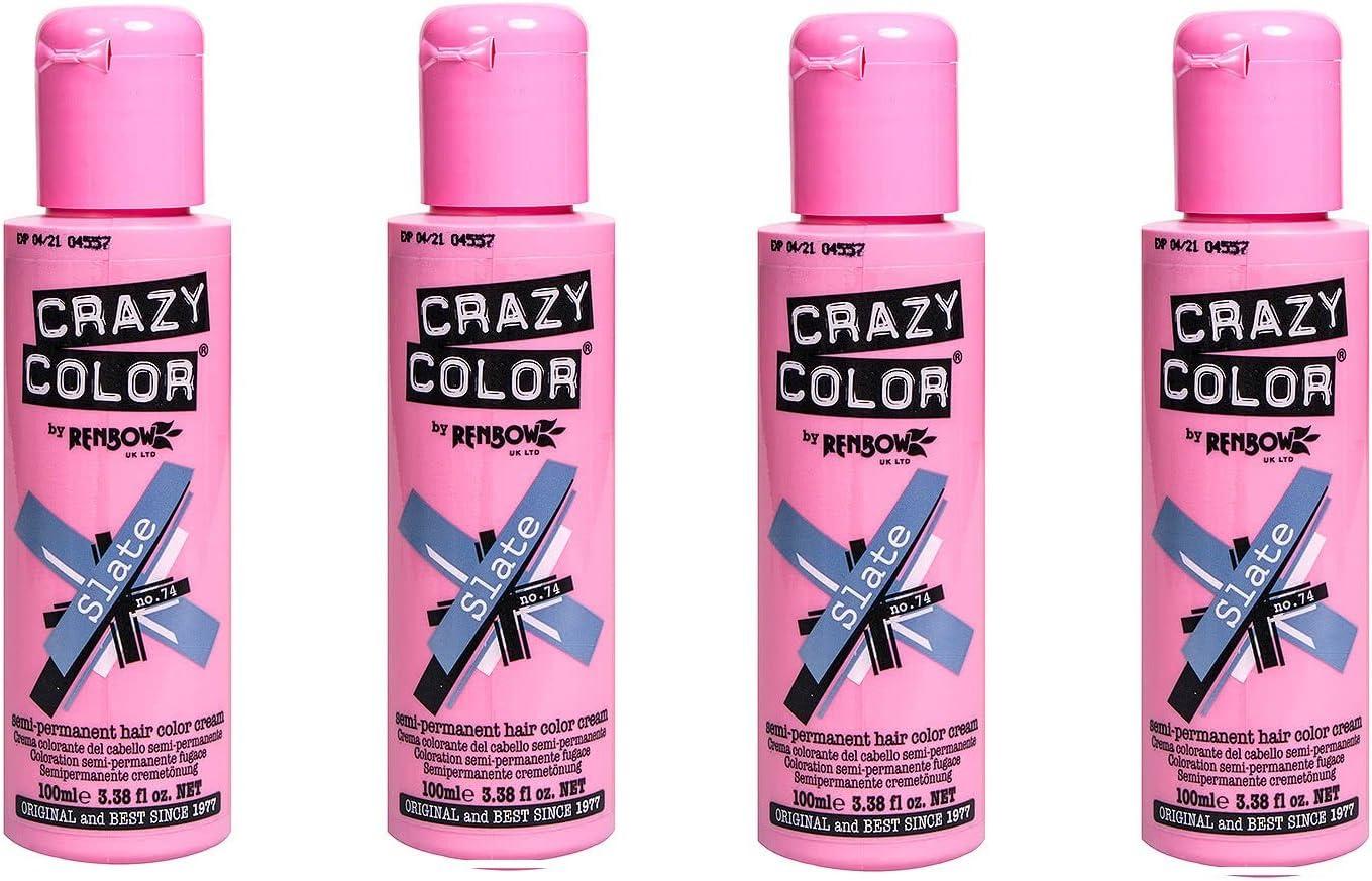 Crazy Color Tinte De Pelo 100 ml – Pizarra x4: Amazon.es ...