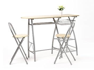 set tavolo e sedie da cucina/bar/colazione in legno: amazon.it ... - Set Tavolo E Sedie Cucina