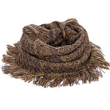 Frauen Winter Herbst Loop-Schal Infinity-Schals Quaste Schals, Gelb ...