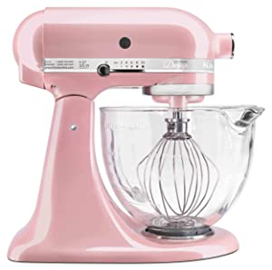 KitchenAid KSM155GBSP Artisan Stand Mixers, 5 quart, Silk Pink