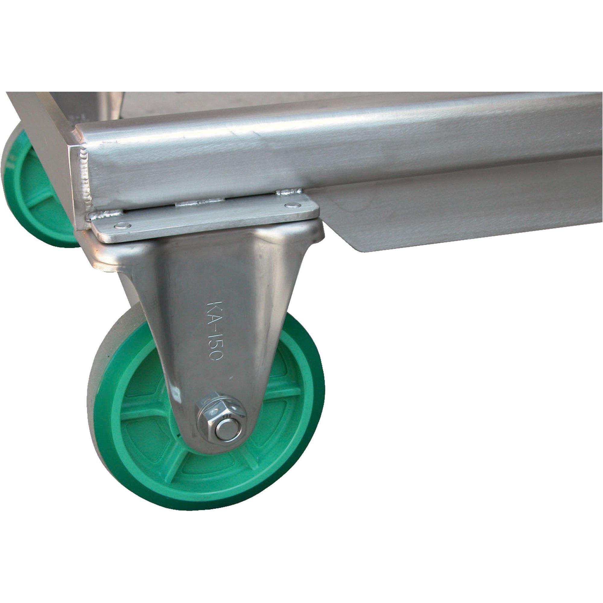 Vestil CART-550-SS Hydraulic Scissor Lift Cart, Stainless Steel, 550 lb. Capacity, 31-1/2'' x 19-1/2'' Platform, 9-3/4'' to 33-1/2'' Service Range