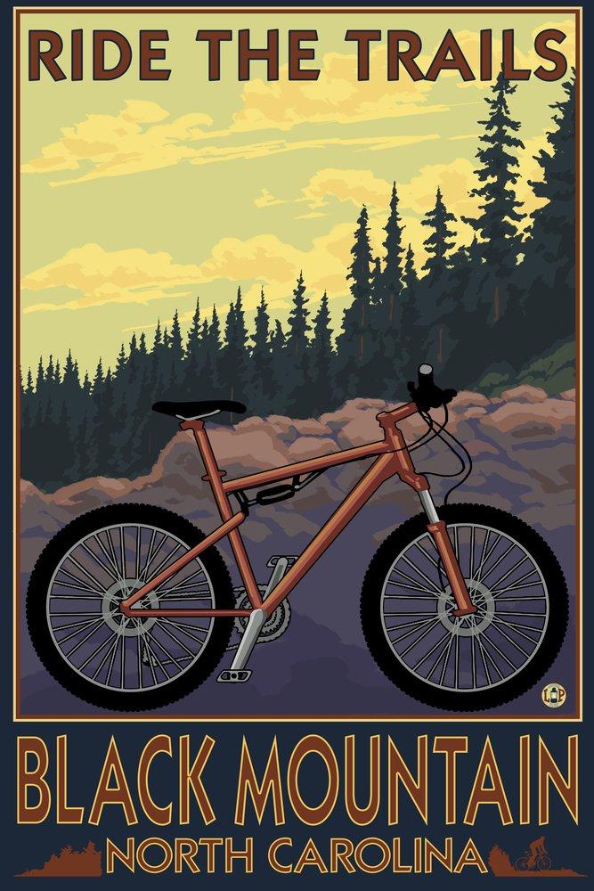 ブラックマウンテン、ノースカロライナ州 – Ride the Trails 36 x 54 Giclee Print LANT-50143-36x54 36 x 54 Giclee Print  B017E9YF00
