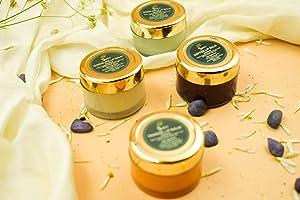 SVATV All Purpose Herbal Salve Lip Balm II Coffee, Green Apple , Orange & White chocolate Flavour II 2 Oz, 15g x 4