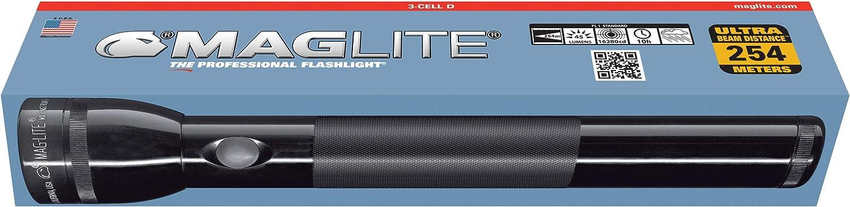 Mag-Lite S2D116 2D-Cell Stab-Taschenlampe 25 cm blau f/ür 2 Mono-Batterien