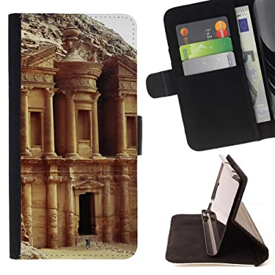 FJCases Petra Jordania Las Siete Maravillas del Mundo Carcasa Funda Billetera con Ranuras para Tarjetas y Soporte Plegable para HTC U11