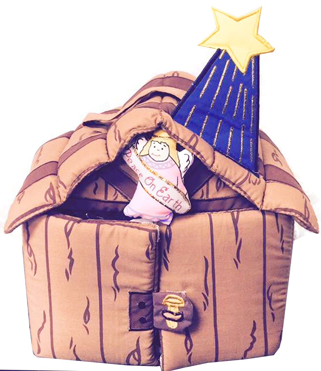 Pockets Of Learning Fabric Nativity Manger Set for Children By Soft Skills Learning Products Inc.