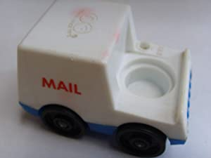 Fisher Price Little People Vintage Replacement Figure Toy Vehicle Collectible ; US Post Office Postal Mail Truck #997