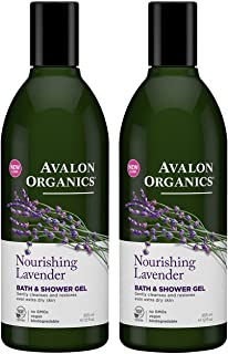 product image for Avalon Organics Lavender Bath and Shower Gel, 12-Ounce Bottle (Pack of 2)