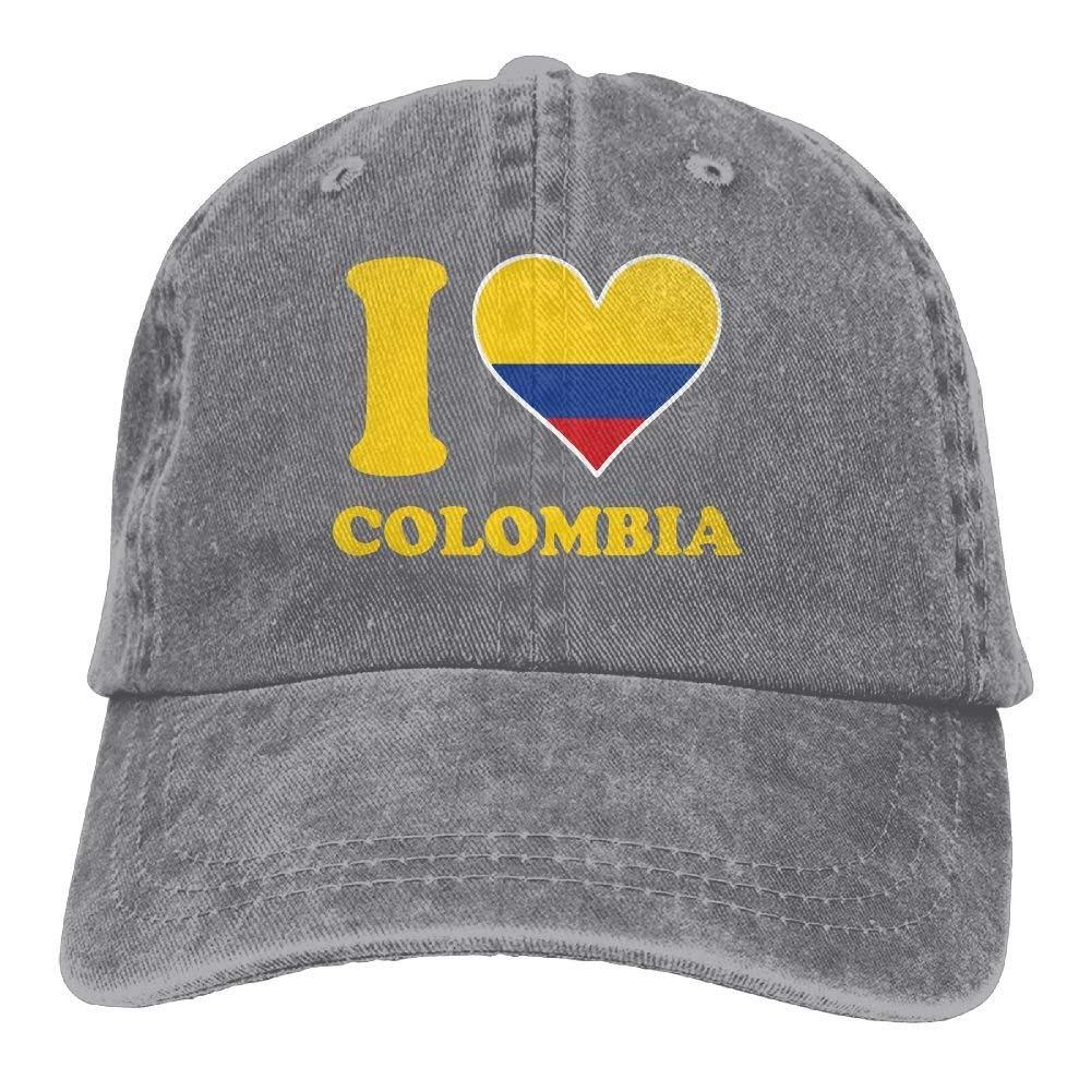 Wdskbg Amo la Bandera Colombiana Unisex Gorra de béisbol Ajustable ...