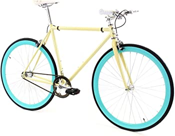 Golden Cycles Fixie with Deep V Rims