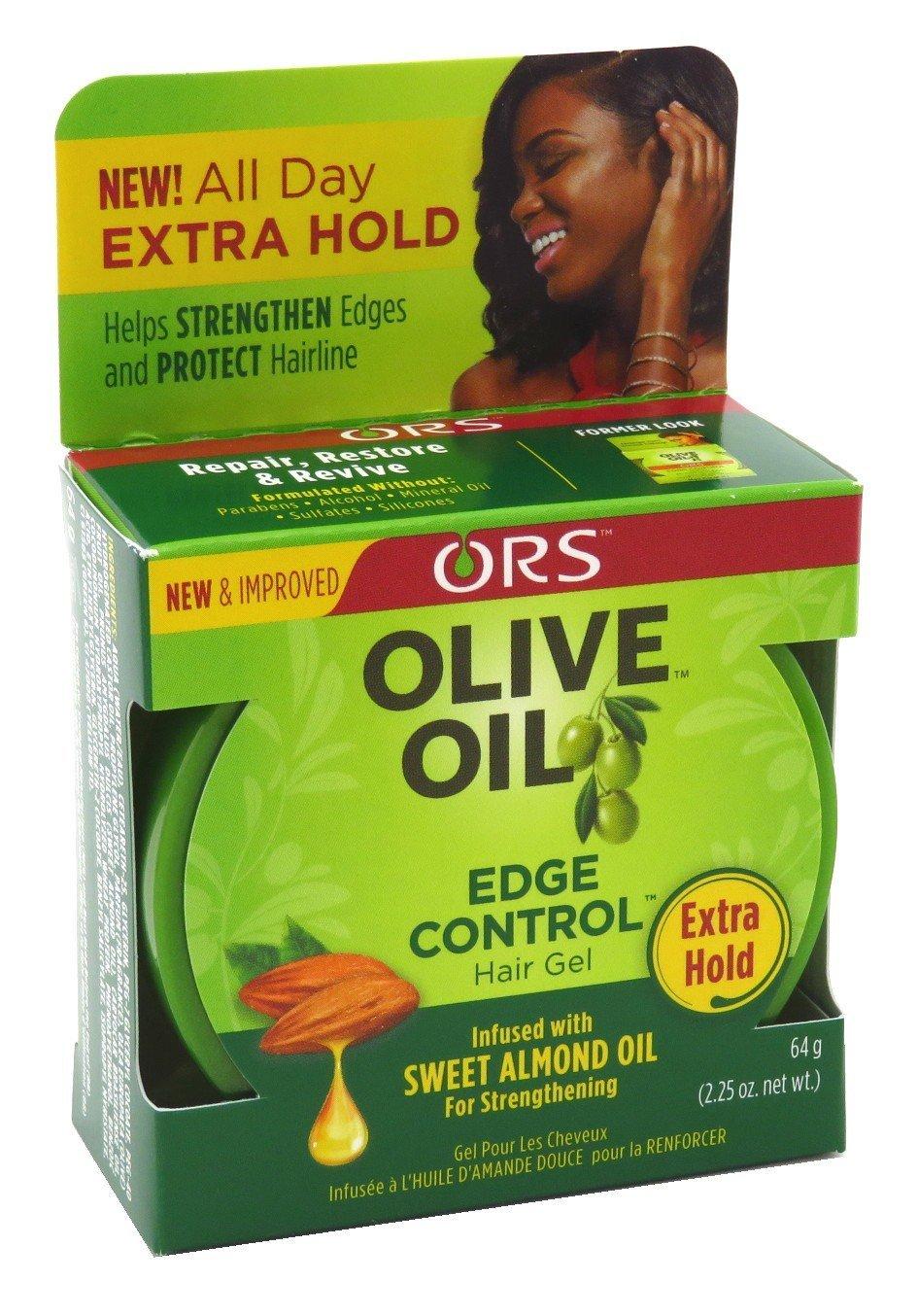 Organic R/s Root Stimulator Olive Oil Edge Control Hair Gel, 2.25 Ounce