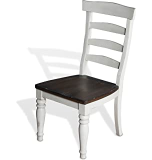 a36aa246e762 Sunny Designs Bourbon Country Ladder Back Wood Dining Chair
