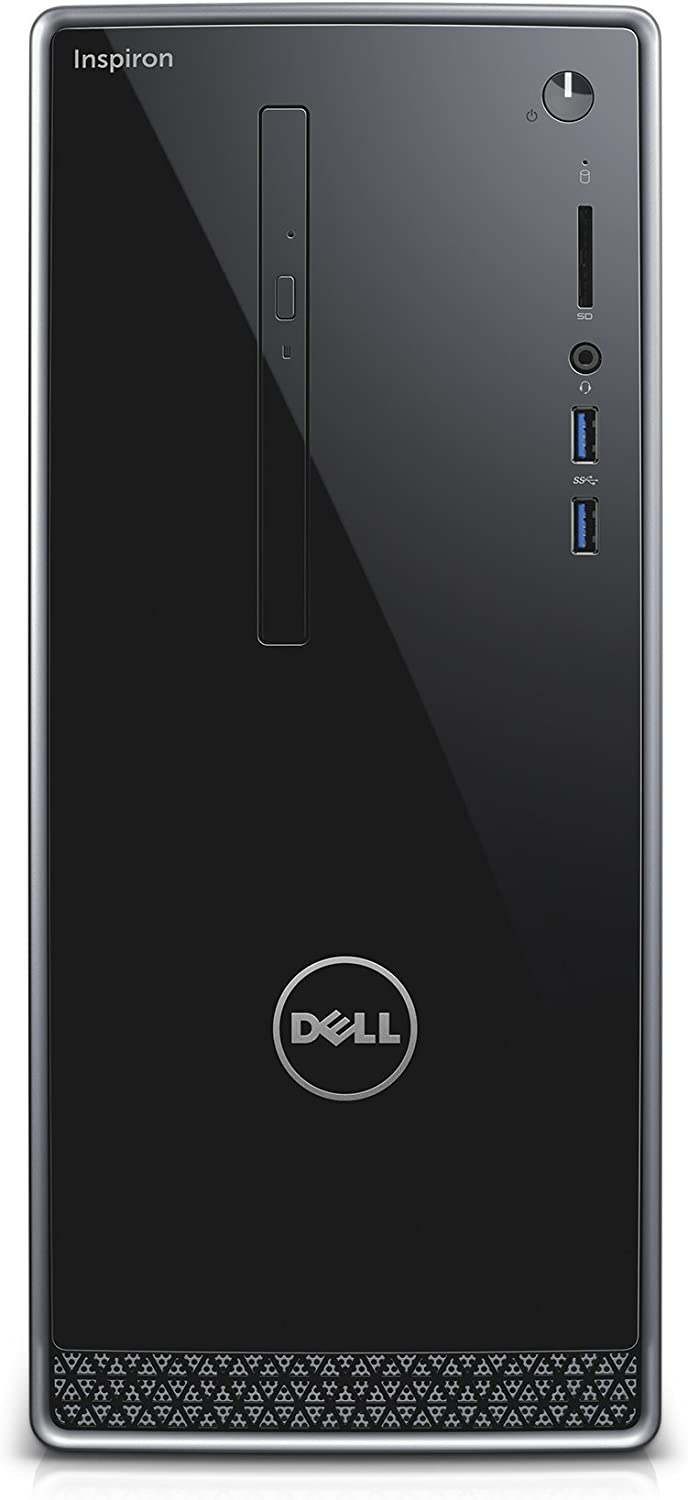 Dell Inspiron i3650-1551SLV Desktop (Intel Core i3, 8 GB RAM, 1 TB HDD, Silver) No Monitor Included (Certified Refurbished)