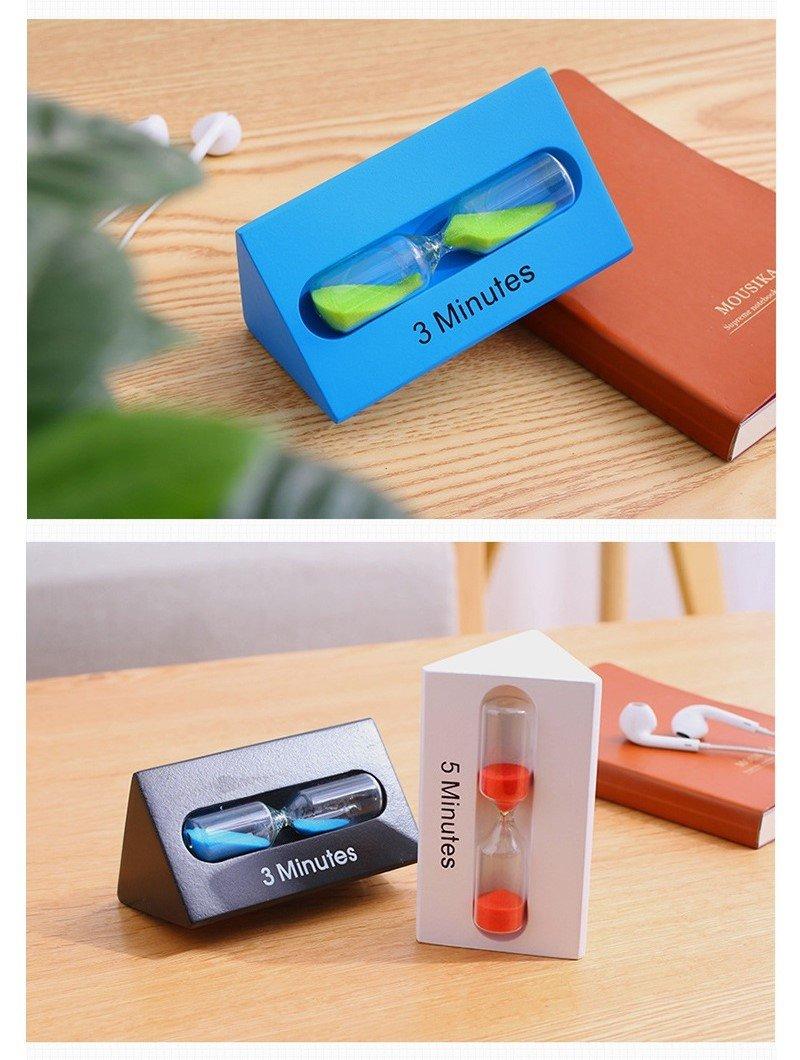 Fancyus 3/5/7 Minutos Wooden Triangle Kids Cepillo de dientes Sand Timer (Azul): Amazon.es: Juguetes y juegos