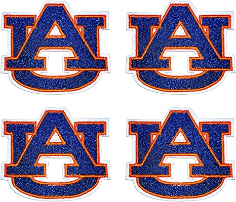 """Auburn Tigers Embroidered Patch 3"""" x 3"""" sew or Iron On"""