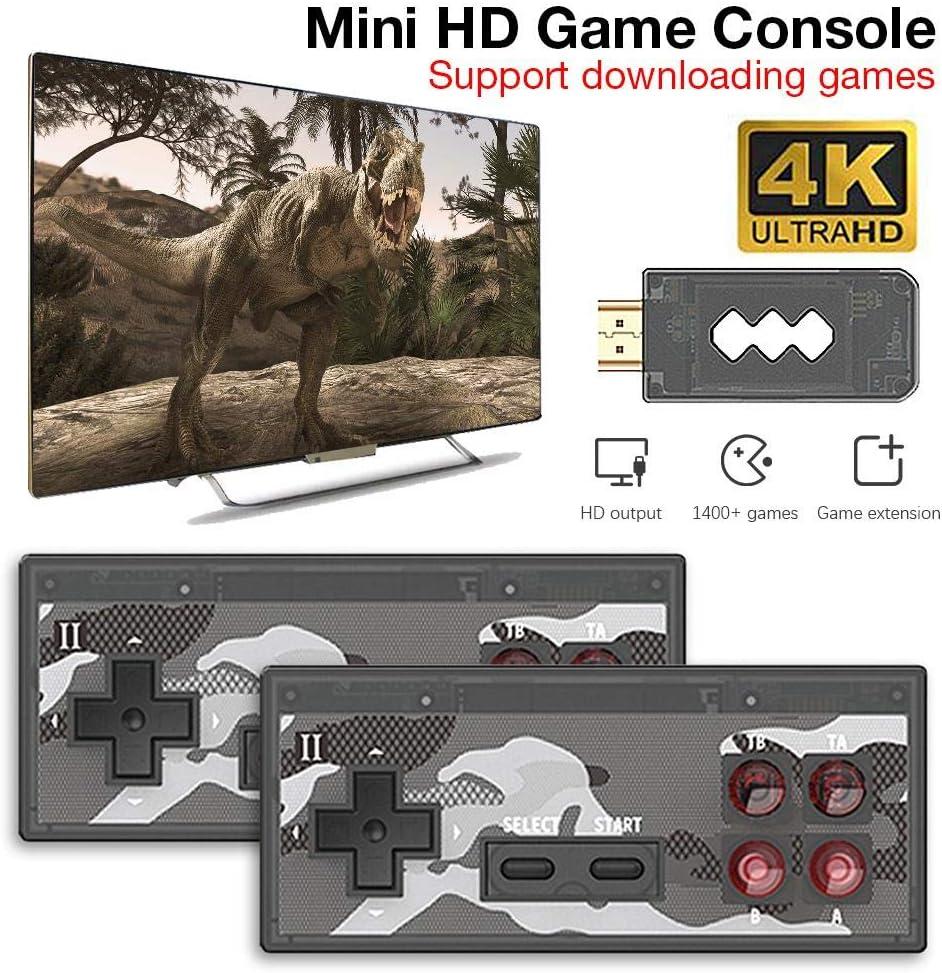 [Más reciente actualizado] Consola de videojuegos retro, Consola de juegos portátil retro 4K Juegos NES integrados de más de 1400+ que no se repiten, Compatible con interfaz HD HDMI