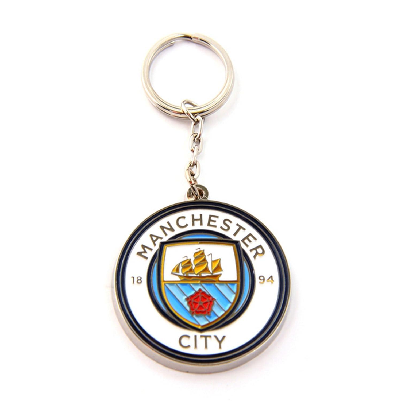 Manchester City FC Official Metal Football/Soccer Crest Keyring UTSG8096_1