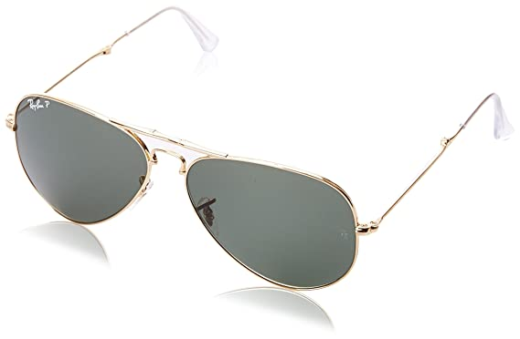 8c1ec789769 Ray-Ban 3479 001 58 Gold Polarised Folding Aviator Sunglasses - size 58mm   Amazon.co.uk  Clothing