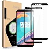 OnePlus 5T Screen Protector - [2 PACK] ICHECKEY [Full Adhesive] [2.5D Full Coverage ] Tempered Glass Screen Cover Shield for OnePlus5T - Black