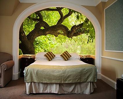 Startonight Mural Wall Art Photo Decor Tree on the Green Landscape ...
