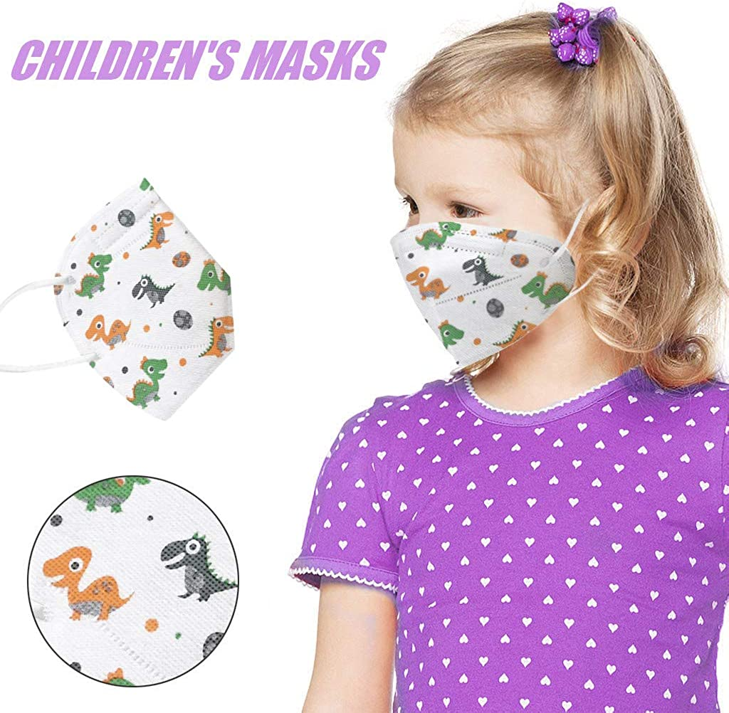 4 Ply Breathable goodjinHH 25//35//55//80//120//150 PCS Kids Disposable Face Bandanas Anti Dust Haze Saliva Cute Print Outdoor Safety Face Protection for Children