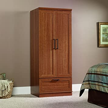Amazon.com: Sauder Homeplus Wardrobe/Storage Cabinet, Sienna Oak ...