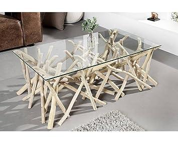 Table basse bois flotté 110 cm: Amazon.fr: Cuisine & Maison