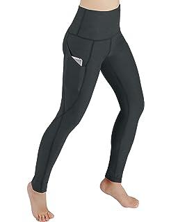 ae1daf8eb6 ODODOS High Waist Out Pocket Yoga Pants Tummy Control Workout Running 4 Way  Stretch Yoga Leggings