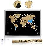 havalime® Premium XXL Rubbel Weltkarte - Scratch World Map - Limited Edition 2018 - Geschenkidee für Reisende - 82x59 cm - (Schwarz)