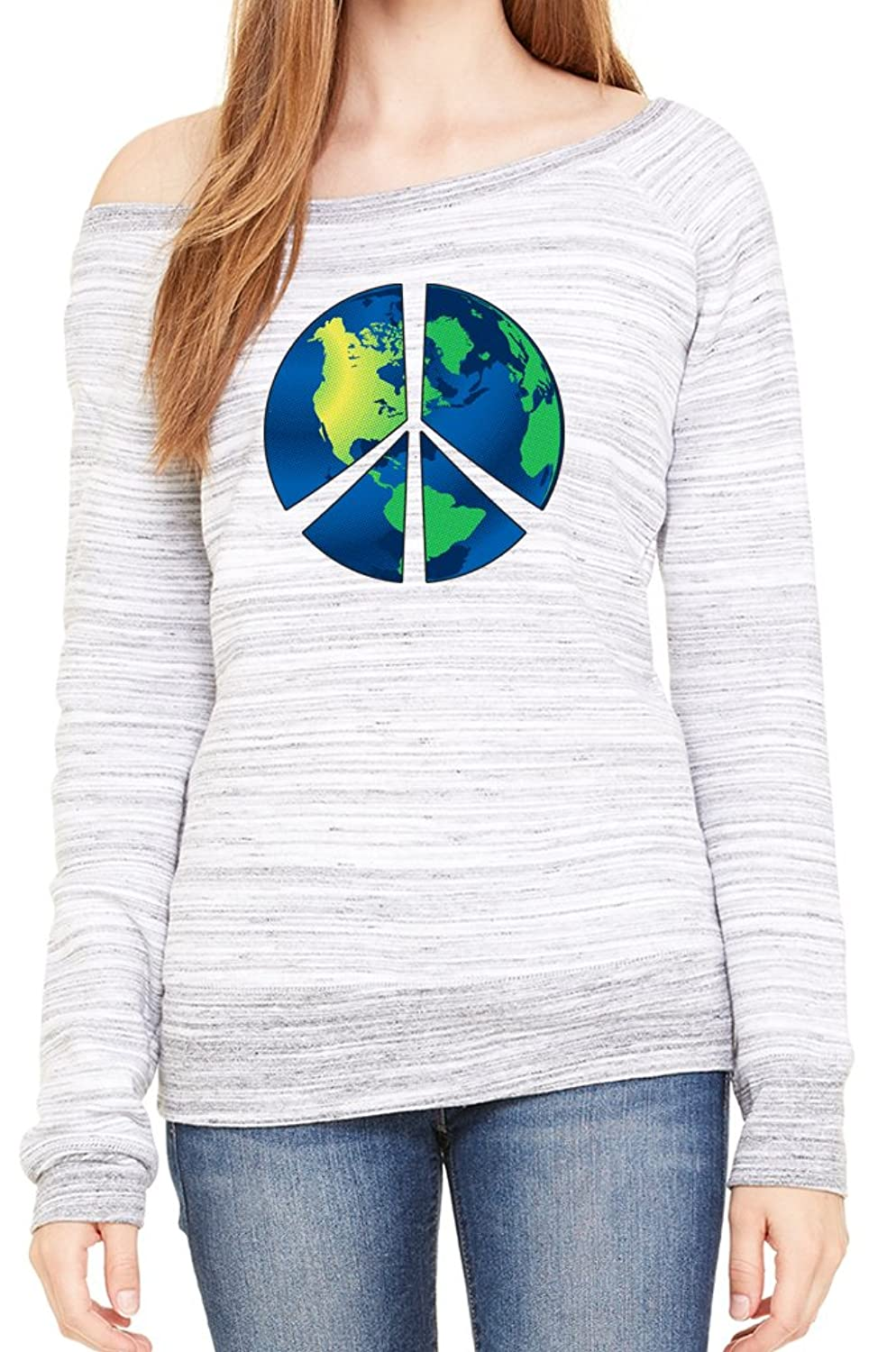 Yoga Clothing For You Ladies Blue Earth Wide Neck Sweatshirt