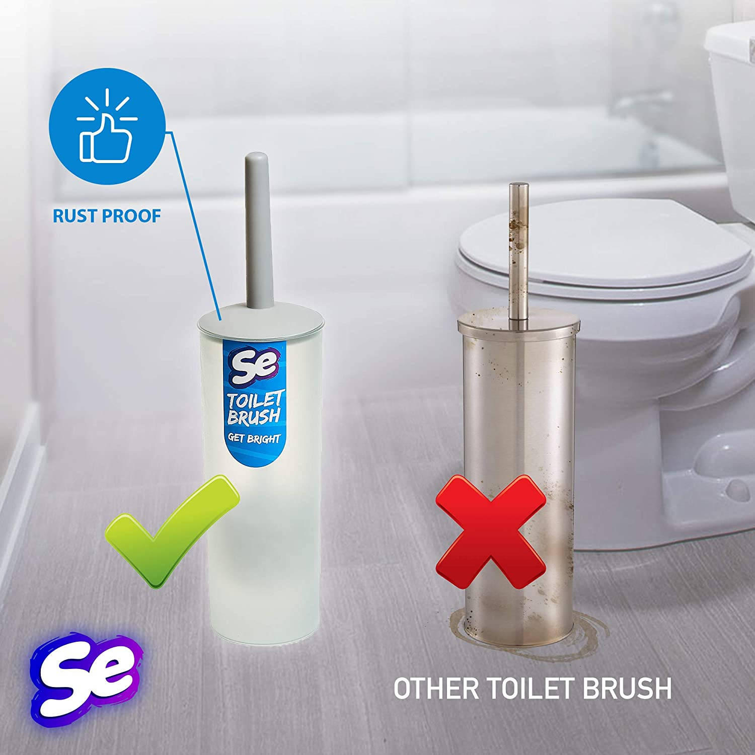 b3b84dac980 Toilet Brush Holder – Toilet Bowl Brush Set - Commercial Toilet ...