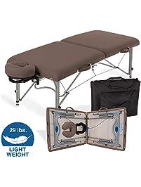 EARTHLITE Portable Massage Table LUNA - Ultra-Lightweight, Patented Aluminum Reiki Frame incl. Flex-Rest Face Cradle...