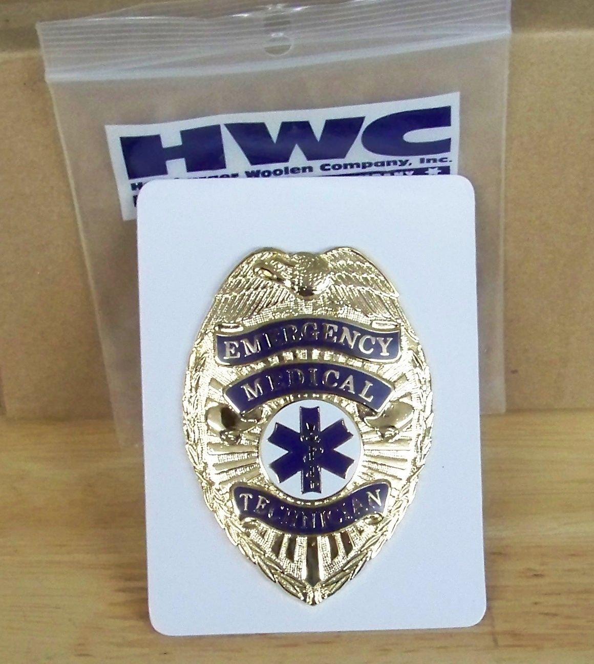 Emergency Medical Technician Badge-Emt Gold With Full Color Seal HWC 8118g BA24